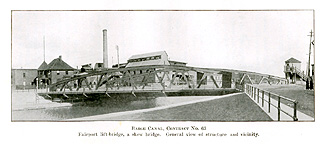 Fairport Lift Bridge in 1915