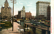 Syracuse, N.Y., Clinton Square and the Erie Canal