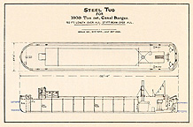 Steel Tug for 1000 Ton Canal Barges