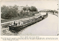 Modern steel canal barges