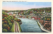 Barge Canal and Industries of Little Falls, N.Y.