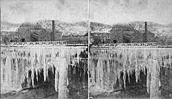 Aqueduct in winter at Little Falls