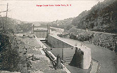 Barge Canal Lock, Little Falls, N.Y.