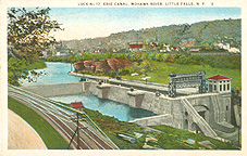 Lock no. 17, Erie Canal, Mohawk River, Little Falls, N.Y.