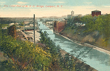 Erie Canal East of New York Central Bridge at Lockport, N.Y.