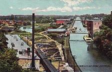 Looking East from N.Y.C.R.R. Bridge, Lockport, N.Y.