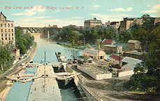Erie Canal and N.Y.C. Bridge, Lockport, N.Y.