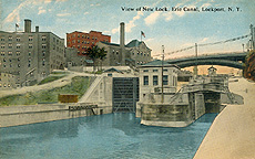 View of New Lock, Erie Canal, Lockport, N.Y.