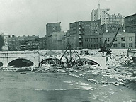 Broad Street Bridge construction, 1922