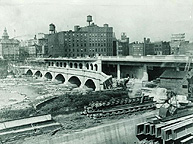 Broad Street Bridge construction, 1924