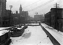 Erie Canal in winter