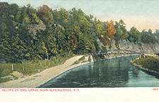Bluffs on Erie Canal near Schenectady, N.Y.