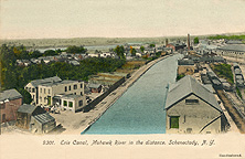 The Erie Canal and Mohawk River, Schenectady, N.Y.