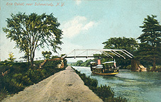 Boat in the Erie Canal near Schenectady, N.Y.