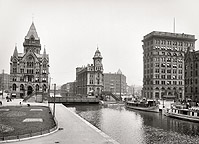 Clinton Square and Erie Canal, Syracuse, N.Y., 1904