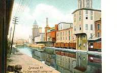 Syracuse, N.Y., Erie Canal West St., Looking East