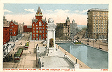 Clinton Square, showing Soldiers' and Sailors' Monument, Syracuse,            N.Y.