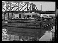 The barge Edward Hedger in Lock Eleven near Amsterdam, N.Y.