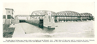 Lock no. 8 and Dam no. 4, at Scotia, N.Y., 1921