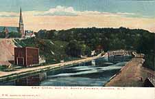 Erie Canal and St. Agnes Church, Cohoes, N.Y.