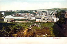 Panoramic view of the Erie Canal, Cohoes, N.Y.