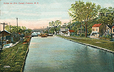 Scene on Erie Canal, Cohoes, N.Y.
