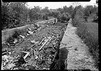 Remains of Enlarged Erie Canal Lock No. 18, Cohoes, N.Y.