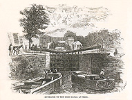 Entrance to the Erie Canal at Troy