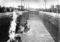 Opening of the Barge Canal at Lock No. 2.