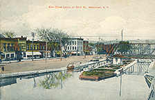 Erie Canal Locks at 23rd St., Watervliet, N.Y.