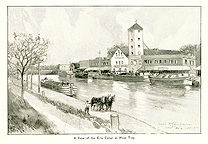 A View of the Erie Canal at West Troy