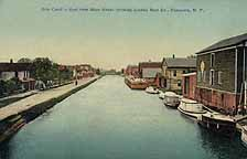 Erie Canal, looking East from Main Street in Canastota, N.Y.