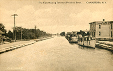 Erie Canal looking East from Peterboro Street, Canastota, N.Y.