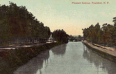 Pleasant Avenue along the Erie Canal, Frankfort, N.Y.