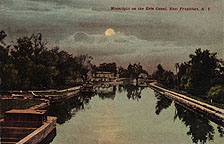 Moonlight on the Erie Canal, East Frankfort, N.Y.