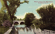Moyer Creek and Erie Canal aqueduct from Main Street, Frankfort, N.Y.
