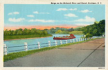 Barge on the Mohawk River and Canal, Herkimer, N.Y.