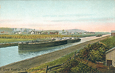 Steel Fleet on Erie Canal near Ilion, N.Y.