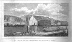 Entrance of the Canal into the Hudson at Albany