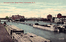 Entrance to New Barge Canal, Tonawanda, N.Y.