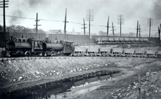 Construction scene, New York State Barge Canal, Fairport, N.Y.