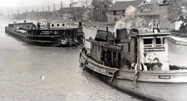Two boats, Erie Canal, Fairport, N.Y.
