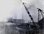 Dismantling of 1888 Main Street Bridge, Fairport, N.Y.