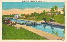 Barge Canal Lock no. 28, Newark, N.Y.