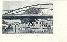 Middle Lock, Erie Canal, Newark, N.Y.