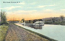 Lumber boat on the Erie Canal, Newark, N.Y.