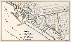 Map showing Slips and adjuncts of the Erie Canal at Buffalo