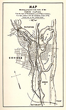 Map showing proposed new route of the Erie Canal at Cohoes