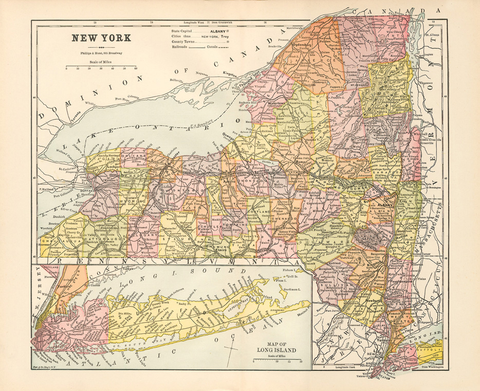 Map Of New York 1800.Erie Canal Maps