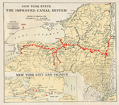 New York State, The Improved Canal System
